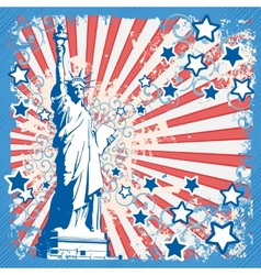American background with statue of liberty vector