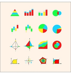 Icons for graphs and charts vector