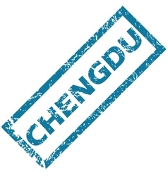 Chengdu rubber stamp vector