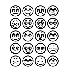 Set of icons smiley faces vector