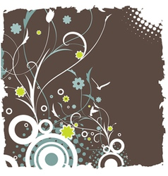 floral retro design vector image