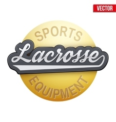 Lacrosse tag with ball vector