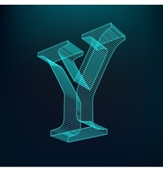The letter y polygonal letter low poly model vector