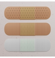 Realistic medical adhesive bandage set vector