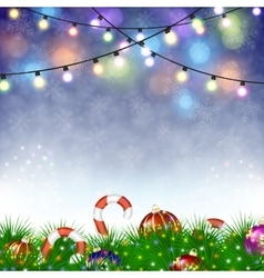 Merry christmas festive background vector