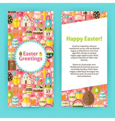 Vertical flyer templates for happy easter vector