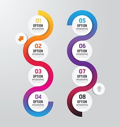 Infographics step design options banner vector