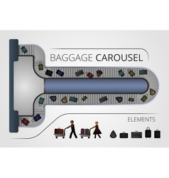 The baggage carousel construction vector
