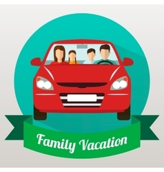 Family trip by car vector