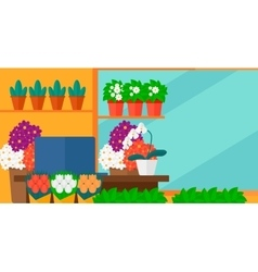 Background of flower shop vector