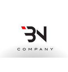 bn logo letter design vector image