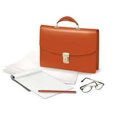brief case with notepad vector image vector image