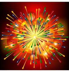 Brightly explosion background vector