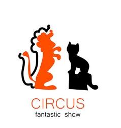 circus show retro logo vector image vector image