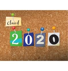 Class of 2020 concept vector