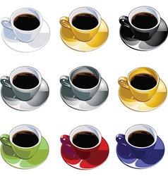 Coffee mugs vector image