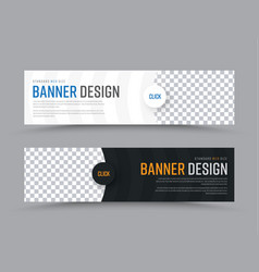 design of horizontal web banners with vector image vector image