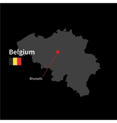 Detailed map of Belgium and capital city Brussels vector image vector image