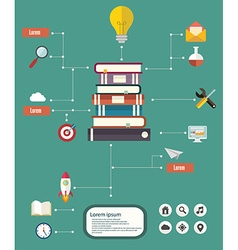 flat design education infographic with copy space vector image vector image