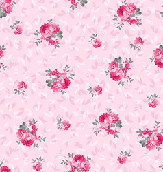 Floral pattern with pink roses vector image vector image