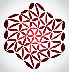 FlowerOfLifeTheme vector image vector image