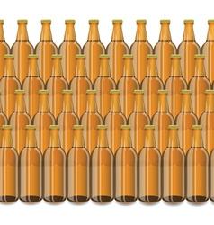 Glass Beer Brown Bottle vector image vector image