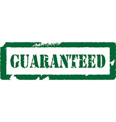Guaranteed stamp vector image