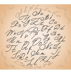 handwriting font vector image