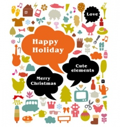 happy holiday vector image vector image