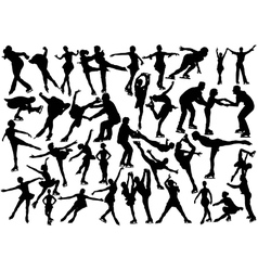 Ice skaters vector