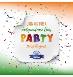 India independence day party poster vector