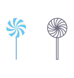lollypop icons on isolated background vector image