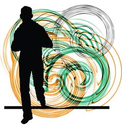 Man Running vector image vector image
