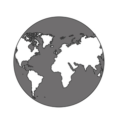 Monochrome color of sphere planet earth vector