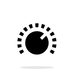 Music knob icon on white background vector