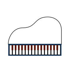 piano music instrument classic cartoon vector image vector image