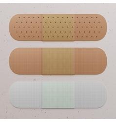 Realistic medical adhesive bandage set vector