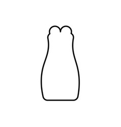 sexy dress icon vector image