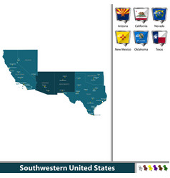 Southwestern united states vector