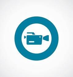 video camera icon bold blue circle border vector image