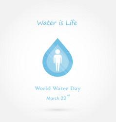 Water drop and people icon logo design vector