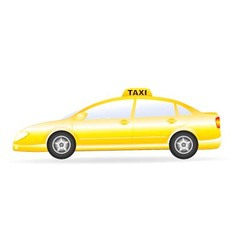 Isolated taxi car vector