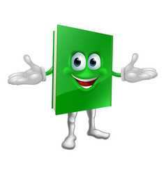 Happy cartoon book man vector