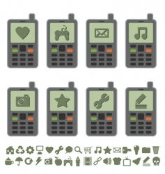Retro mobile phones vector