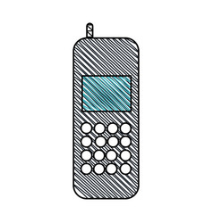 cellphone call communication gadget vector image