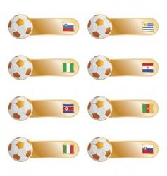 Football flag tabs vector