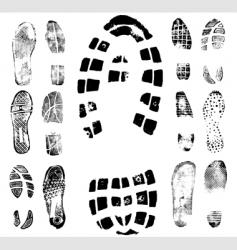Footprint traces vector