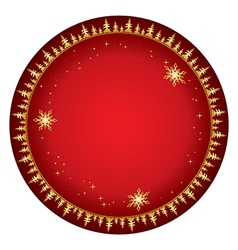 Red background with gold decor - christmas vector