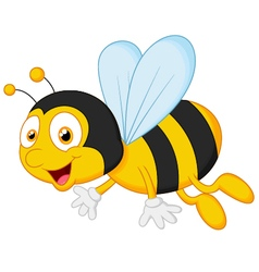 Bee cartoon flying vector image