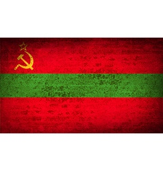 Flags transnistria with dirty paper texture vector